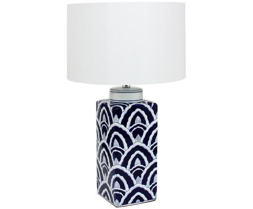 Lampa stołowa XL Carla,  Ciemnyniebieski, biały