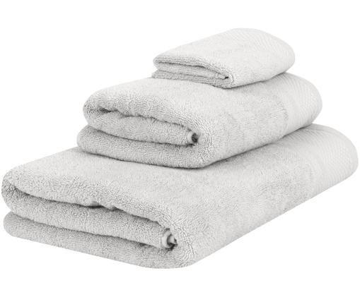 Handtuch-Set Premium, 3-tlg., Hellgrau