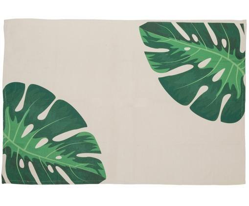 Tapis intérieur-extérieur tissé à la main Adam, Beige, tons verts