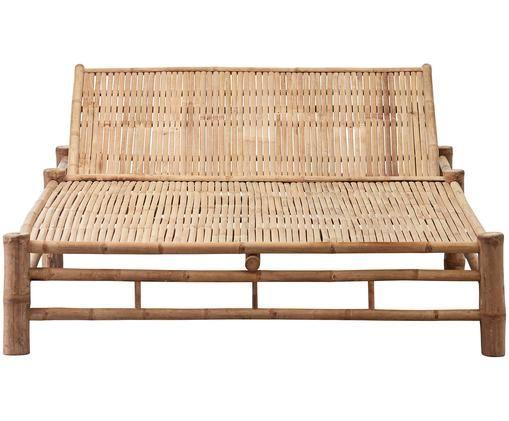 Łóżko dzienne z bambusa Mandisa, Drewno bambusowe