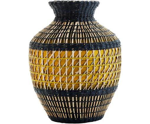 Jarrón decorativo Mosak, Beige, amarillo, negro