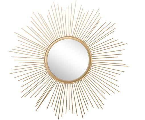 Miroir soleil Brooklyn, Cadre: couleur dorée Surface réfléchissante: verre miroir