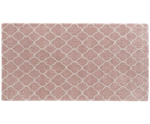 Flauschiger Hochflor-Teppich Grace in Rosa-Creme, Altrosa, Creme