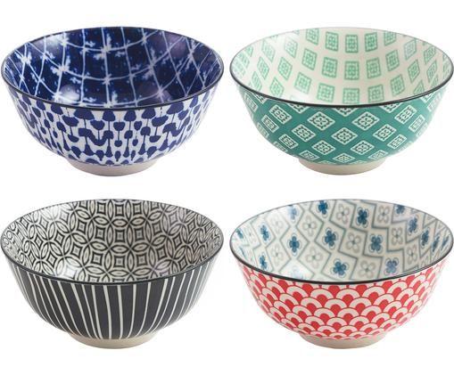 Ensemble de bols Oriental, 4 élém., Multicolore