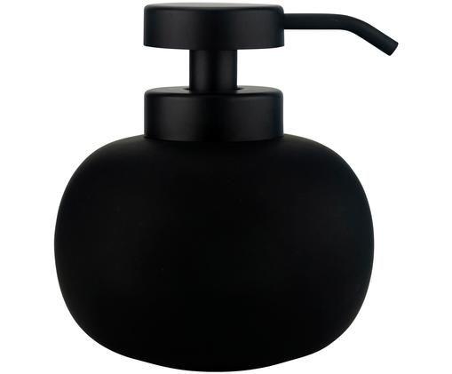 Keramik-Seifenspender Lotus, Schwarz