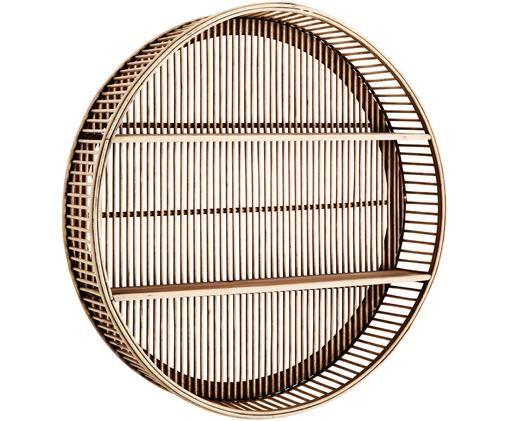 Okrągła półka ścienna z drewna bambusowego Bentra, Ciemny beżowy