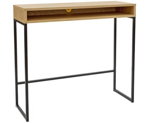 Smal staand bureau Frame, Eikenhoutkleurig