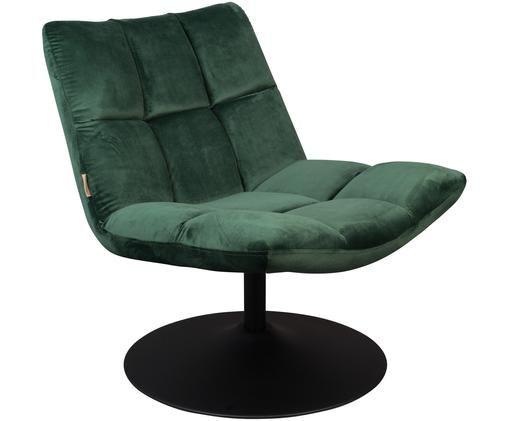 Fotel obrotowy z aksamitu Bar, Zielony