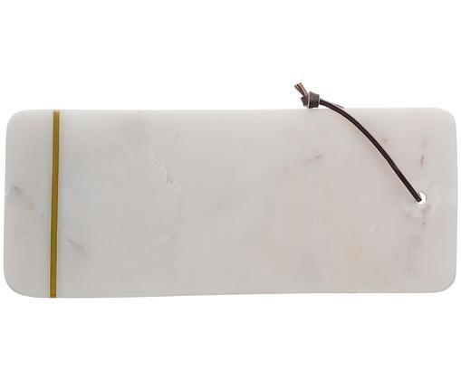 Tagliere in marmo Strip, Bianco, dorato