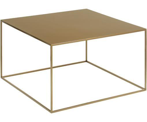 Tavolino da salotto in metallo Tensio in ottonato, Ottonato