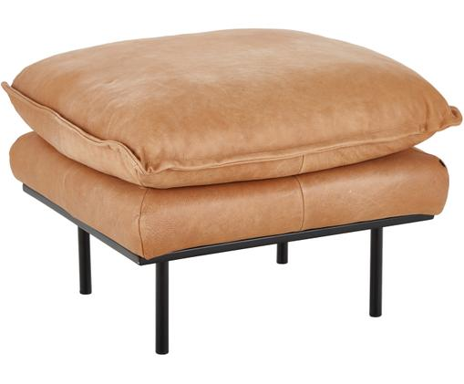 Sofa-Hocker Retro aus Leder, Beige
