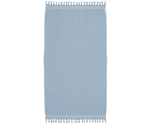 Hamamdoek Soft Cotton, Blauw, wit