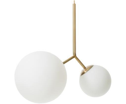 Lampa wisząca Twice, Złoty, biały
