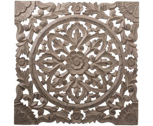 Ręcznie wykonana dekoracja ścienna Samira, Brązowy, antyczne wykończenie