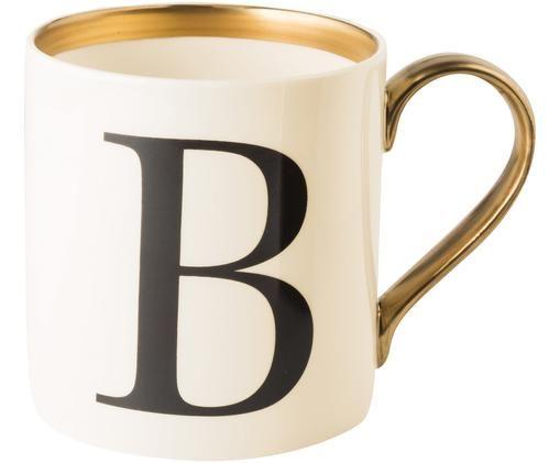 Hrnek Baskerville (varianty od A do Z), Béžová, černá, zlatá