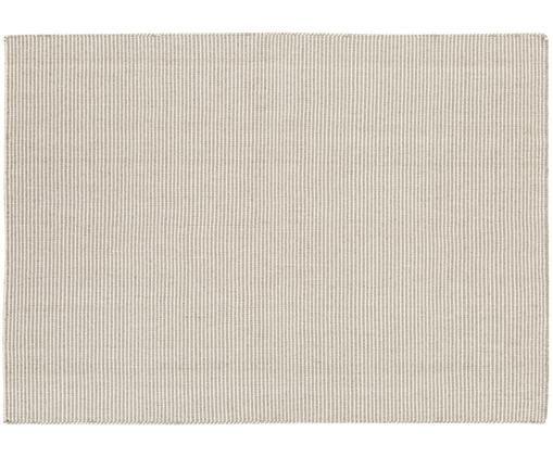 Tappeto in lana tessuto a mano Ajo, Grigio chiaro, crema