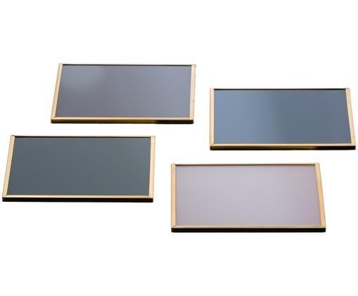 Set sottobicchieri in vetro Maquillage, 4 pz., Multicolore