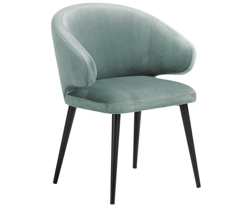 Samt-Armlehnstuhl Celia in modernem Design, Türkis