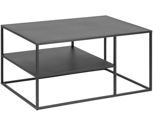 Zwarte metalen salontafel Newton, Zwart