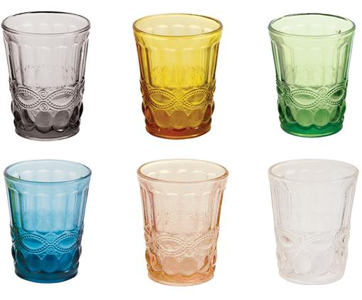 Ensemble de verres à eau Nobilis, 6élém., Multicolore
