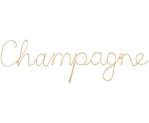 Dekoracja ścienna Champagne, Odcienie złotego