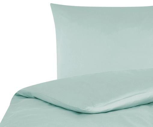 Baumwollsatin-Bettwäsche Comfort, Salbeigrün