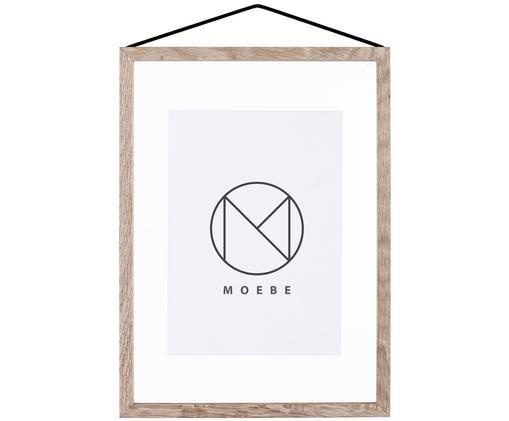 Cornice Frame, Cornice: legno di quercia Sospensione: nero Frontale e posteriore: traspar
