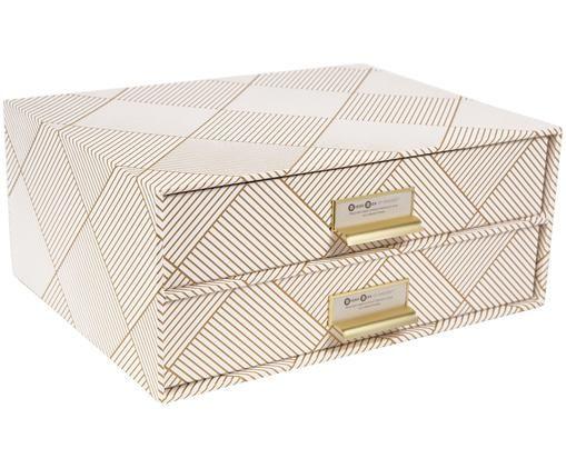Büro-Organizer Birger, Goldfarben, Weiß