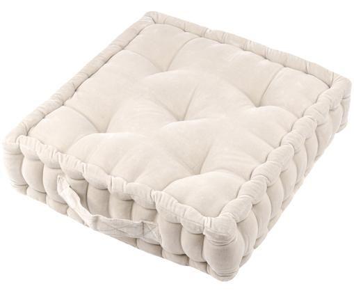 Cuscino da pavimento di piccole dimensioni Toundra, Beige chiaro