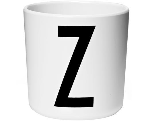 Dětský pohárek Alphabet (varianty od A do Z), Bílá, černá