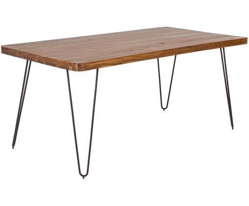 Stół do jadalni Edgar, Drewno akacjowe, czarny