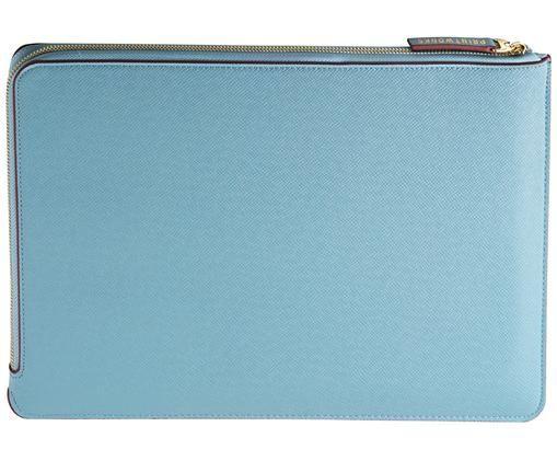 Laptophülle Elegance für MacBook Pro 15 Zoll, Hellblau, Weinrot