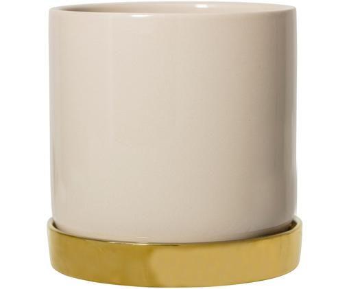 Portavaso Elin, Recipiente: beige Sottobicchiere: dorato
