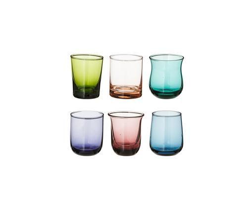 Set de vasos de chupito de vidrio soplado Desigual, 6pzas., Multicolor