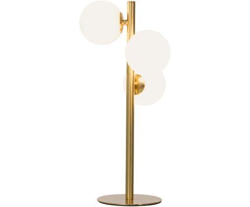 Lámpara de sobremesa Molekyl, Latón, blanco opalino