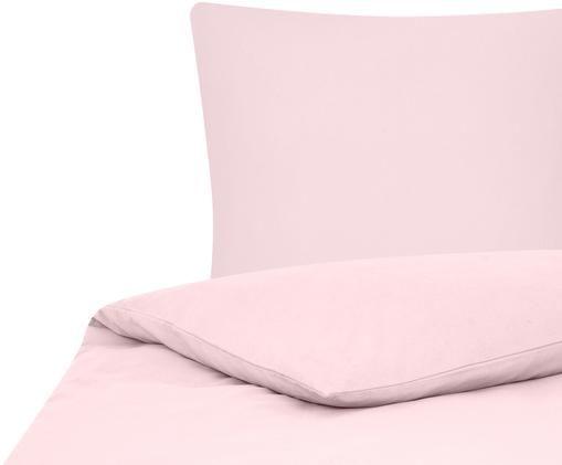 Einfarbige Flanell-Bettwäsche Biba in Rosa, Rosa