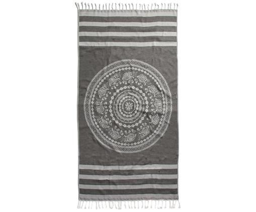 Asciugamano hammam Shiva, Nero, grigio