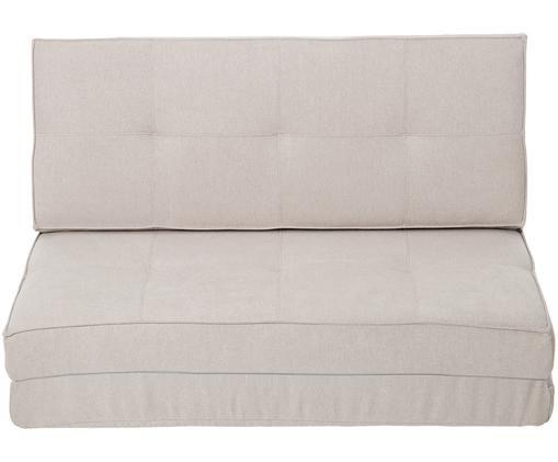 Futon-Schlafsofa Loui (2-Sitzer), ausklappbar, Beige