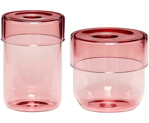 Opbergpottenset Transisto, 2-delig, Roze
