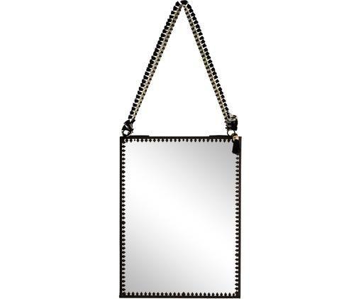Espejo de pared Picture Poly, Negro