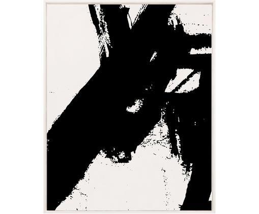 Gerahmter Leinwanddruck Franz Kline, Schwarz, Weiß