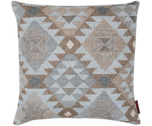 Poszewka na poduszkę Lima, Przód: brązowy, beżowy, niebieski Tył: brązowy