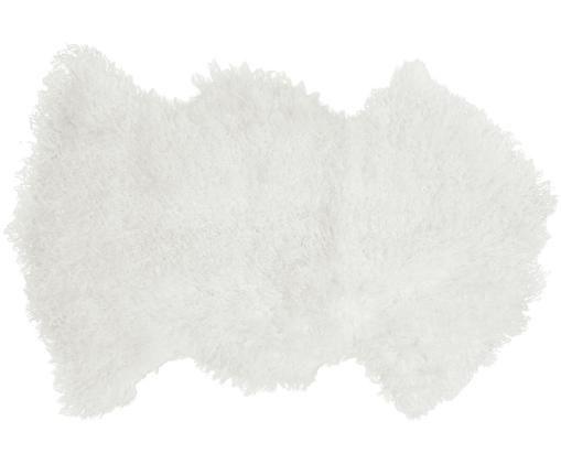 Langhaar-Lammfell Ella, gelockt, Weiß
