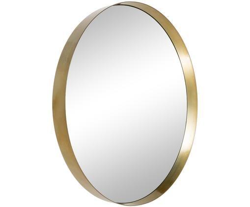Miroir mural Metal, Cadre: couleur dorée Verre miroir