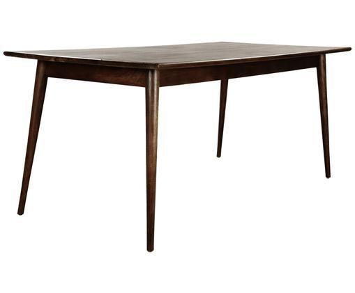 Jídelní stůl z masivu Oscar, Tmavě hnědá