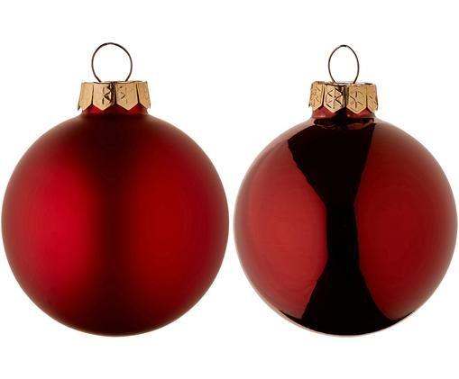 Weihnachtskugeln-Set Evergreen, 10-tlg., Rot