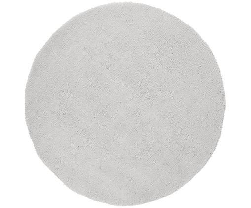 Flauschiger runder Hochflor-Teppich Leighton in Hellgrau, Hellgrau