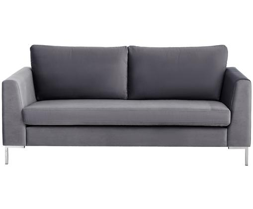 Samt-Sofa Luna (2-Sitzer), Dunkelgrau