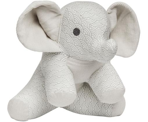 Peluche Elephant, Gris, blanco, gris claro