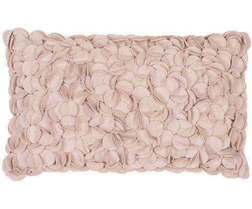 Cuscino in feltro di lana Bed of Roses, Rosa